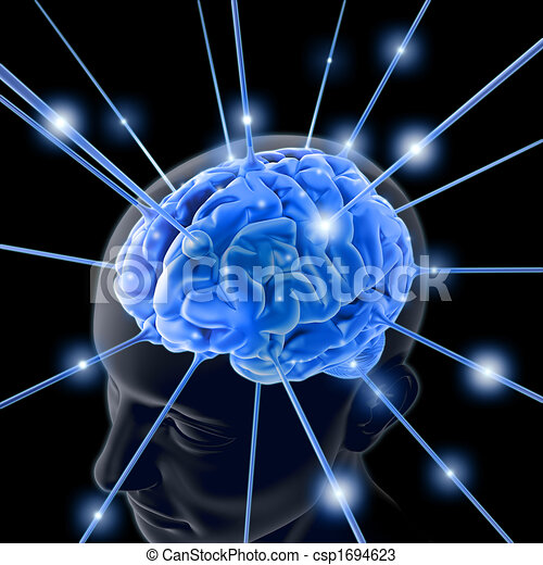 Gehirn aktiviert - csp1694623