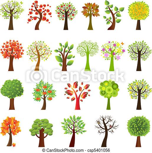 Ansammlung von Bäumen - csp5401056