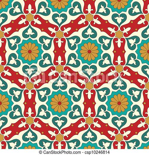 Arabisches, nahtloses Muster. - csp10246814