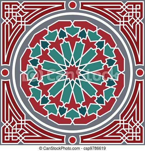 Arabisches nahtloses Muster - csp9786619