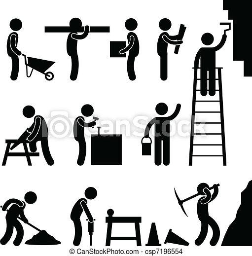 Arbeite hart im Bau - csp7196554
