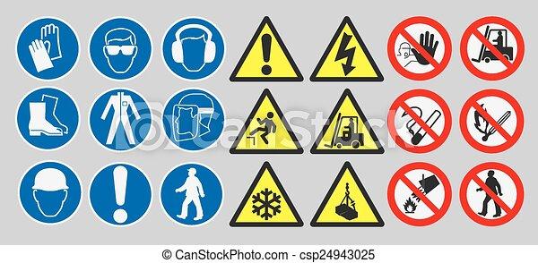 Arbeitsschutzschilder. - csp24943025