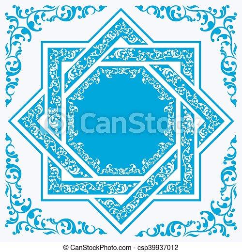 Asiatische Dekoration. - csp39937012