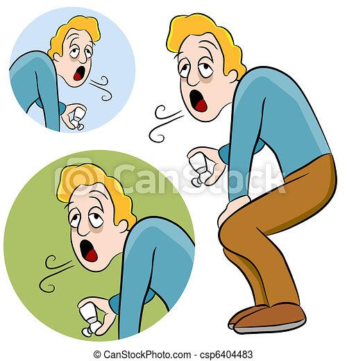 Asthma-Mann - csp6404483