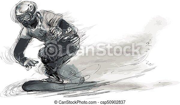 athleten, -, erwerbsunfähigkeit, snowboard, physisch - csp50902837