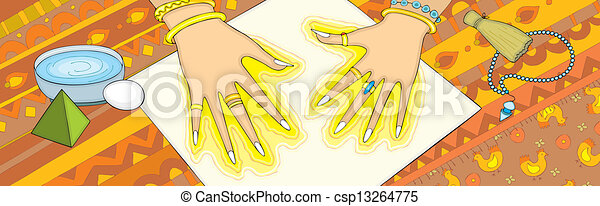 Außergewöhnliche Einzelhand - csp13264775