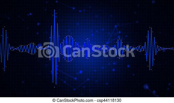 Audiospektrum Waveform abstrakte Grafikanzeige. - csp44118130