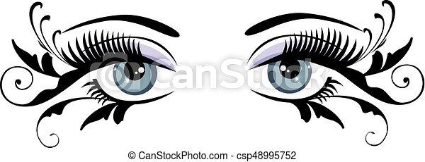 Augen blau. - csp48995752