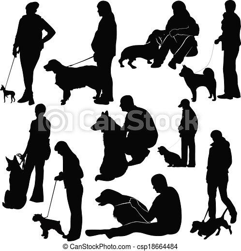 Ausstellung von Hundetieren. - csp18664484