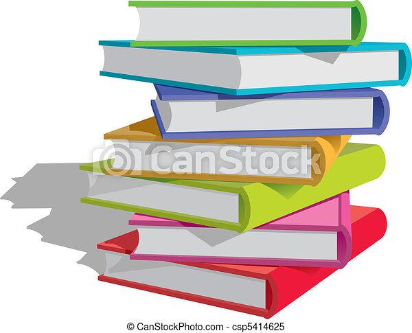 Bücher stapeln - csp5414625