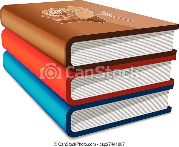 Bücher stapeln - csp27441007