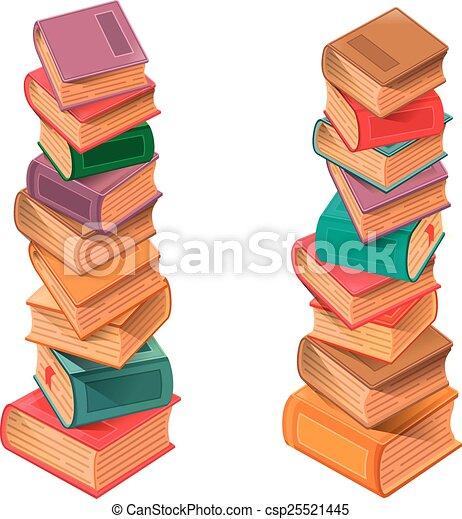 Bücher stapeln Vektor. - csp25521445