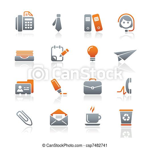 Büro & Business icons / Graphit - csp7482741
