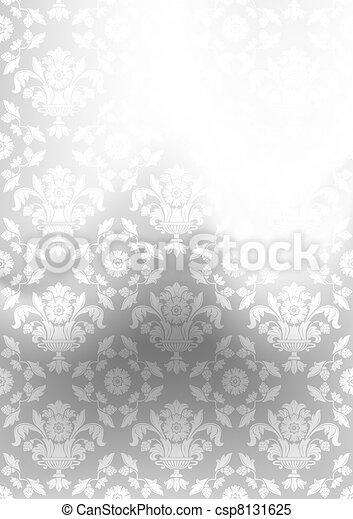 Background verschwommen, Dekoration grau, Absolventenmasche - csp8131625