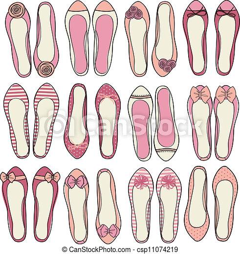 Ballerina-Schuhsammlung. - csp11074219