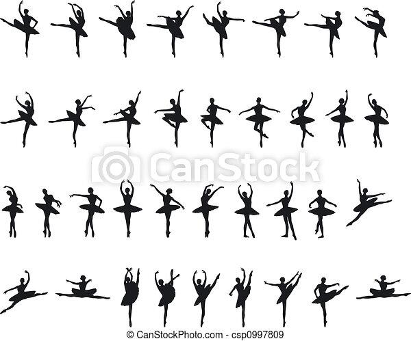Ballett-Slouette - csp0997809