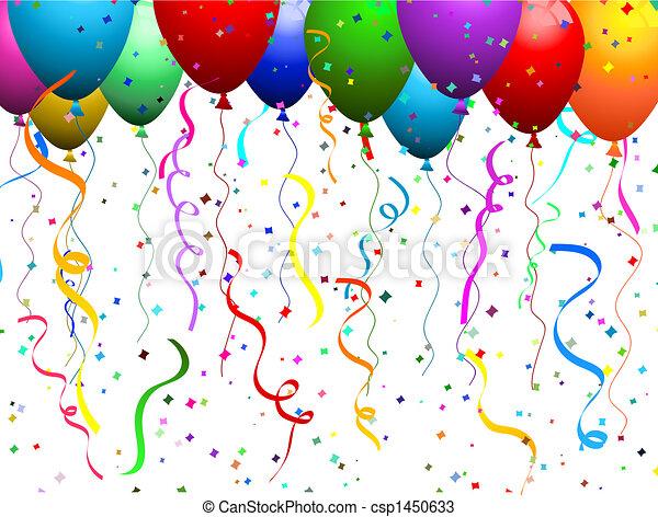 Ballons und Konfetti - csp1450633