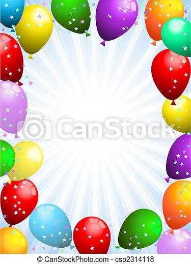 Ballons und Konfetti - csp2314118