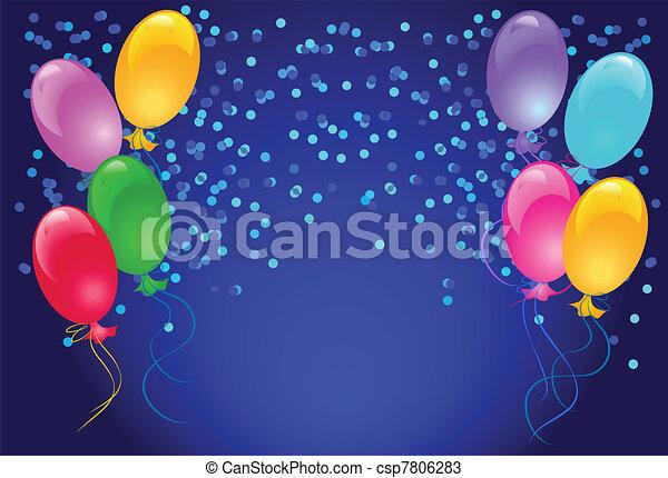 Ballons und Konfetti - csp7806283