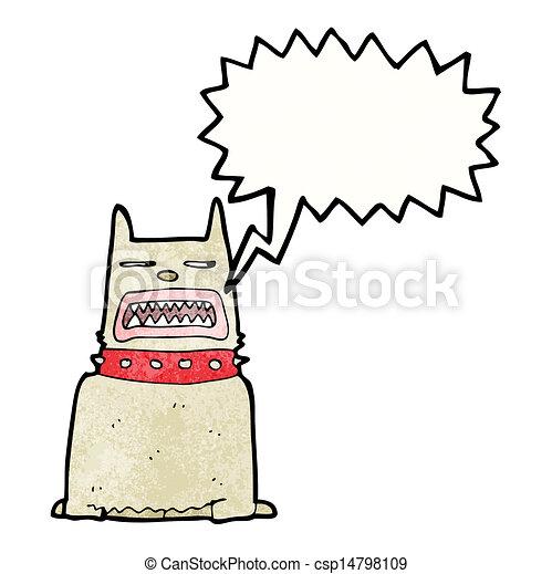 Barking Dog Cartoon. - csp14798109