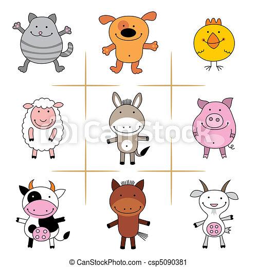 Bauerntiere. - csp5090381