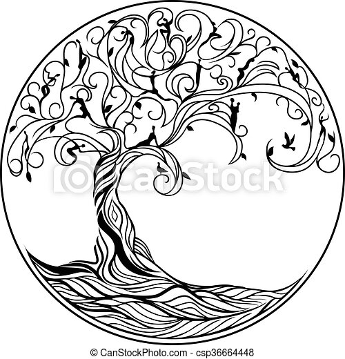 Baum des Lebens. - csp36664448