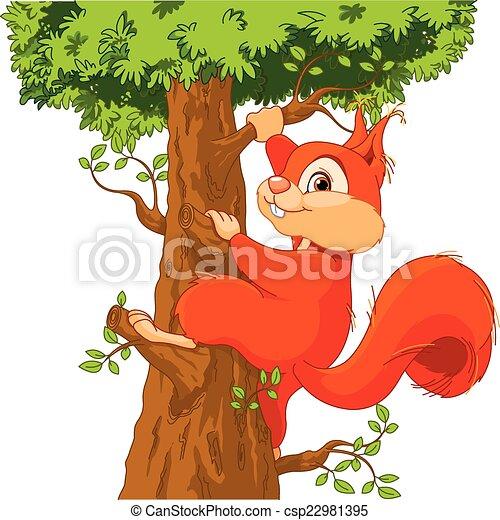 eichhörnchen auf dem baum die illustration des sehr süßen