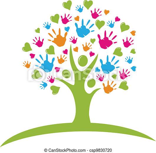 Baum mit Händen und Herzen passt - csp9830720