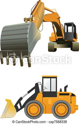 Baumaschinen - csp7568338