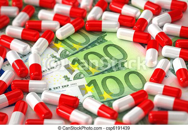 begriff, medikation, teuer - csp6191439