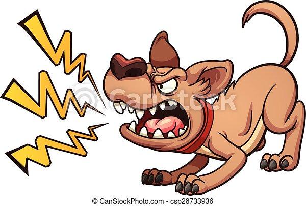 bellenden hund - csp28733936