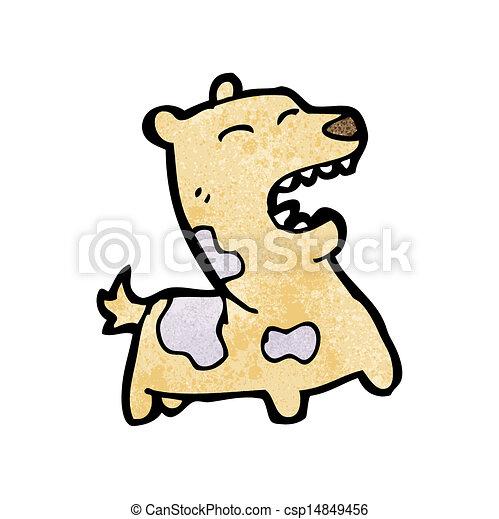 Bellender Hund Cartoon - csp14849456