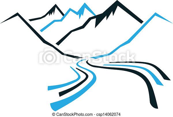 Berge und Tal - csp14062074