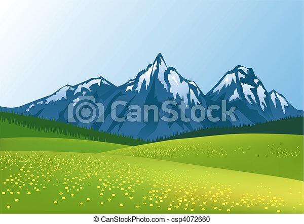Berghintergrund - csp4072660