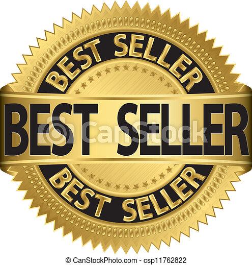 Bestseller Golden Label, Vektor il - csp11762822