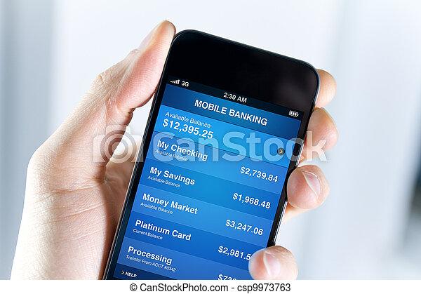 Mobile Bank auf Smartphone - csp9973763