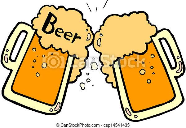 Bier spritzt. - csp14541435