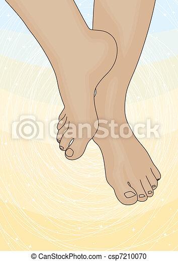 Bild der weiblichen Füße - csp7210070