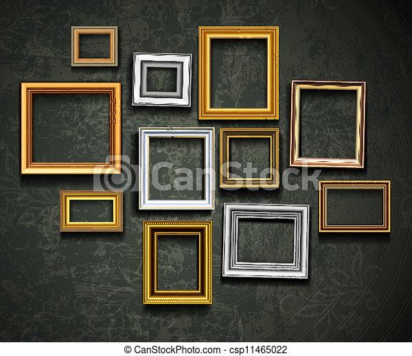 Bildrahmenvektor. Foto-Art-Galerie. Bildrahmenvektor. Ph - csp11465022