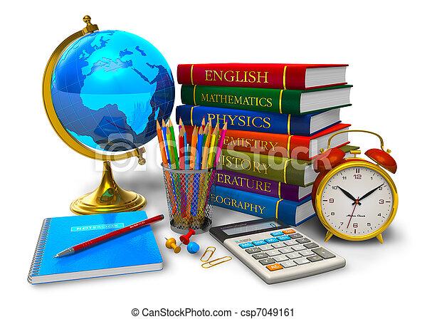 Bildung und zurück zum Schulkonzept. - csp7049161