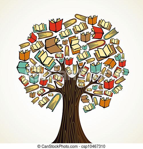 Bildungsbaum mit Büchern - csp10467310
