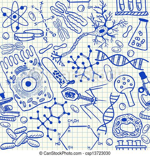 Biologie-Dudeln nahtlos. - csp13723030
