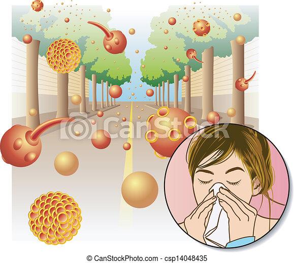 Pollenallergie - csp14048435