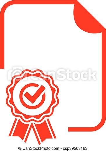 Blanke Diplom-Ikone. - csp39583163