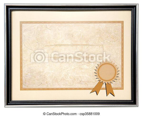 Blankes Diplom. - csp35881009