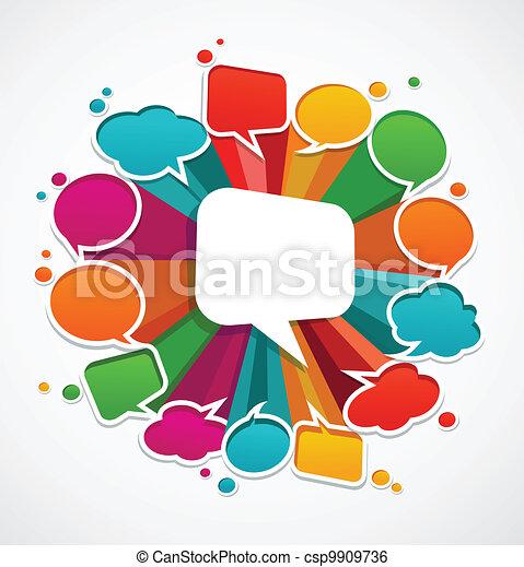 Eine Rede ist Hintergrund - csp9909736
