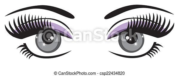 Blaue Augen. - csp22434820