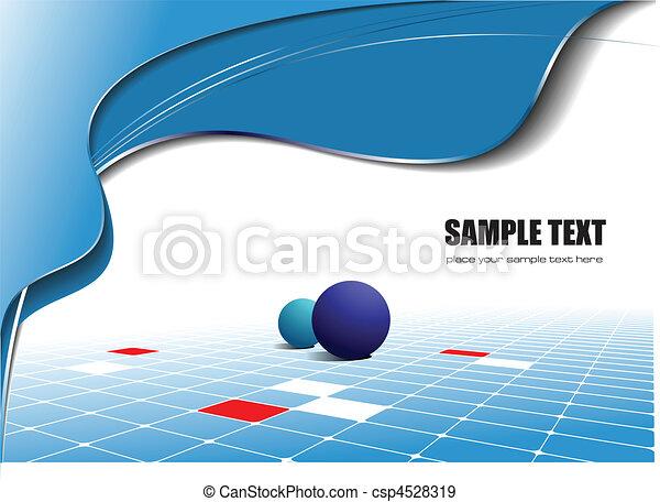 Blaue Wellen-Hintergrund abbrechen - csp4528319