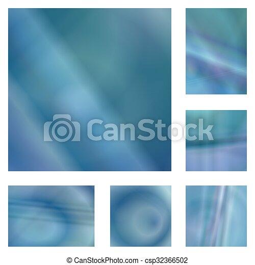 Blauer, abstrakter Hintergrund. - csp32366502