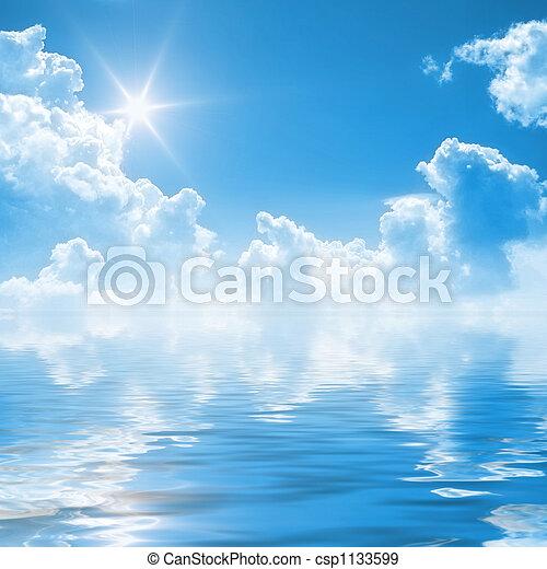 Blauer Himmel Hintergrund - csp1133599